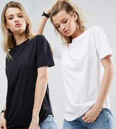 Asos Ultimate Curved Hem Boyfriend T-Shirt 2 Pack