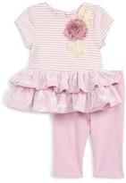 Infant Girl's Pippa & Julie Stripe Dress & Leggings Set