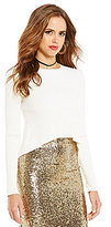 Gianni Bini Ben Ottomon Stitch Scoop Neck Hi-Low Sweater