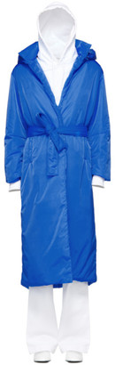 A Plan Application A-Plan-Application Blue Long Puffer Coat