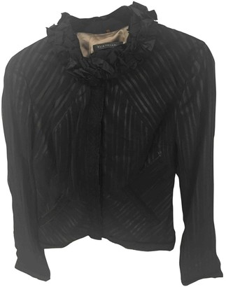 Elie Tahari Black Silk Jacket for Women