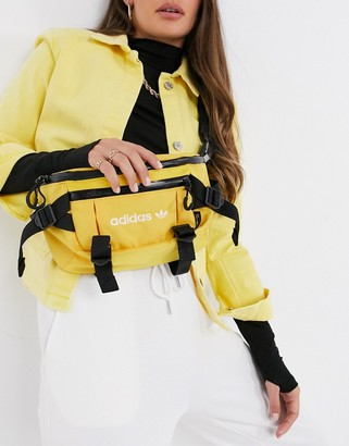 adidas utility bum bag in yellow