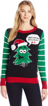 Ugly Christmas Sweater Company Women's Christmas Tree Pullover Sweater