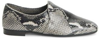 Aquatalia Revy Snakeskin-Embossed Leather Loafers