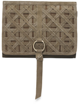 Woven Leather Crossbody Clutch