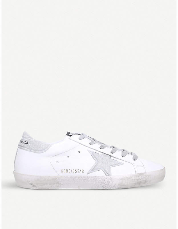 Golden Goose Superstar E51 leather trainers