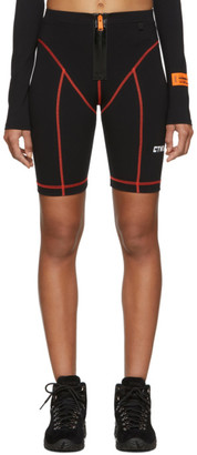 Heron Preston Black Style Active Biker Shorts