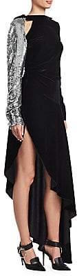 Monse Women's Velvet Embellished Flared Gown