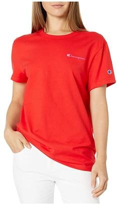 Champion The Boyfriend Tee (Black) Women's T Shirt