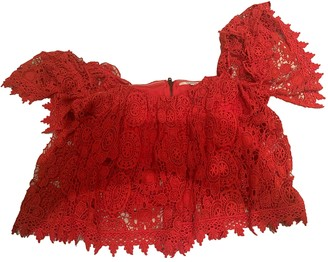 Tularosa Red Lace Top for Women