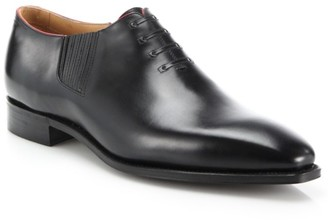 Corthay Twist Pullman French Calf Leather Piped Oxfords