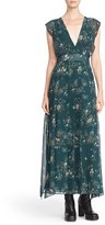 See by Chloe Floral Georgette V-Neck Maxi Dress