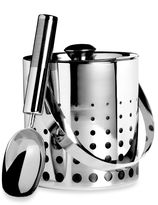 Mikasa Cheers Stainless Steel Ice Bucket with Scoop