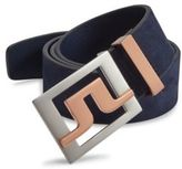 J. Lindeberg Slater Brushed Leather Belt