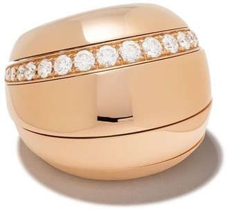 de Grisogono 18kt Rose Gold Layered Diamond Ring
