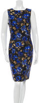 Oscar de la Renta Silk Floral Print Sleeveless Dress
