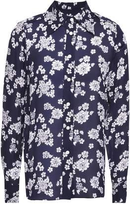 MICHAEL Michael Kors Floral-print Silk-georgette Blouse