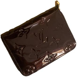Louis Vuitton Zippy Burgundy Patent leather Purses, wallets & cases