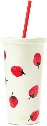 Kate Spade Tumbler with Straw, Strawberries