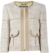 Alberta Ferretti tweed jacket - women - Cotton/Linen/Flax/Acrylic/Other fibres - 42