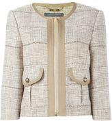 Alberta Ferretti tweed jacket - women - Cotton/Linen/Flax/Acrylic/Rayon - 42