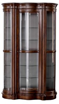 Millhouse Lighted Curio Cabinet Astoria Grand