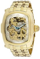 Invicta Men's 1253 Lupah Mechanical Tone Skeleton Dial 18k Ion-Plated Stainless Steel Watch