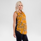 Expected by Lilac Maternity Floral Print Button Down Top - Yellow