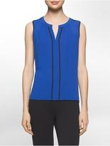 Calvin Klein Contrast Edge Sleeveless V-Neck Top