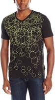 Calvin Klein Sportswear Men's Short Sleeve Solid Geo Abstract Printed Tee
