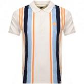 Pretty Green Engineered Stripe Polo T Shirt Cream