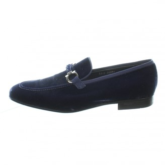 Salvatore Ferragamo Navy Leather Sandals