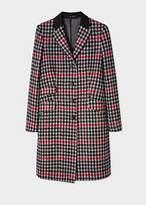 Masai Copenhagen Tanya Leopard Print Wool Blend Coat, Grey