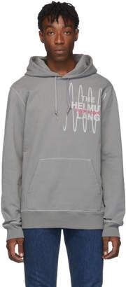 Helmut Lang Grey Standard Logo Hoodie