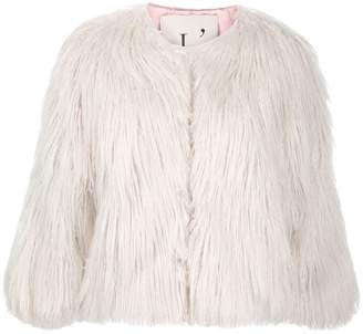 L'Autre Chose short faux-fur jacket