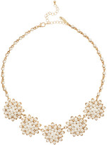 Natasha Accessories Fancy Flower Synthetic Pearl Necklace