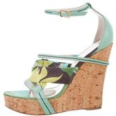 Emilio Pucci Printed Crossover Wedges