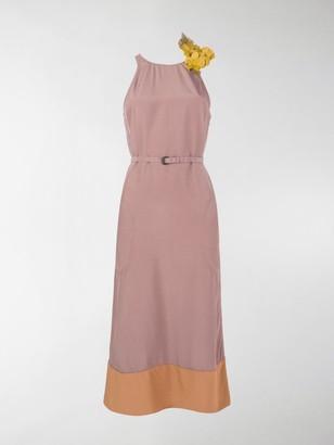 Bottega Veneta Colour-Block Midi Dress