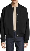 Balenciaga Solid Stand Collar Bomber Jacket