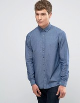 Calvin Klein Skinny Shirt In Chambray