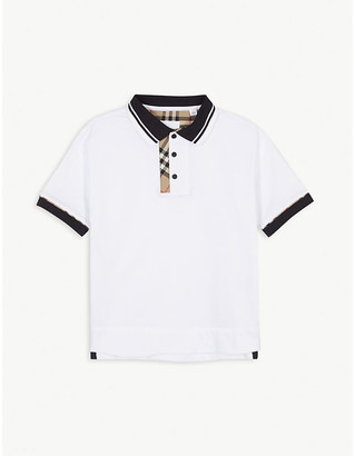 Burberry Archie archive check cotton polo shirt 3-14 years
