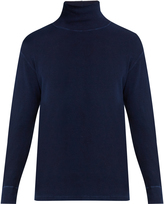Blue Blue Japan High-neck stretch-cotton sweater