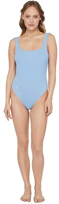 Polo Ralph Lauren Cable Martinique Tank One-Piece (Wave) Women's Swimsuits One Piece