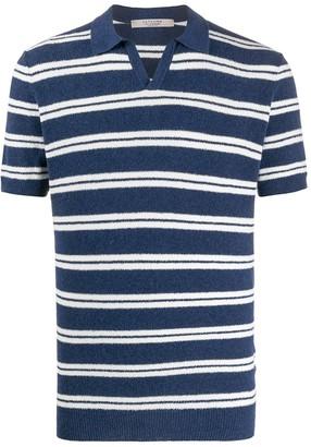La Fileria For D'aniello Short Sleeve Striped Pattern Polo Shirt
