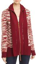 Tory Burch Olivia Wool Zip-Front Cardigan