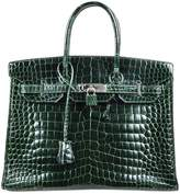 Hermes Birkin 35 crocodile handbag