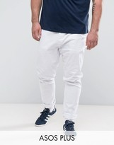 Asos Plus Skinny Chinos In White