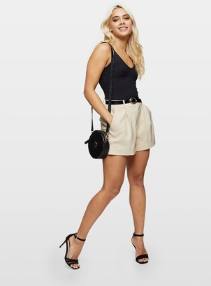 Miss Selfridge PETITE Stone Chino Shorts