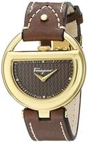 Salvatore Ferragamo Women's FG5060014 Gold Ion-Plated Stainless Steel Watch with Diamond Markers