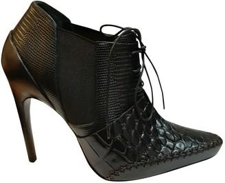 Christian Dior Black Crocodile Ankle boots